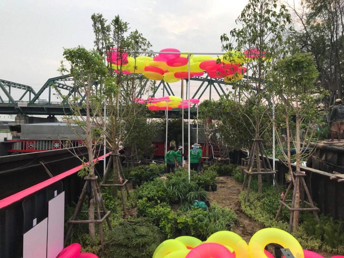 """นำเทรนด์พื้นที่สีเขียว ต้นแบบ """"สวนสาธารณะลอยน้ำ"""" แห่งแรกของไทย"""